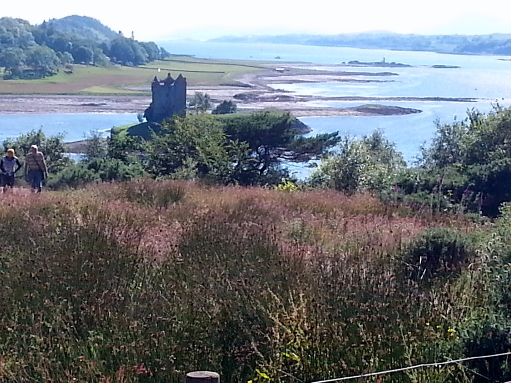 Castle Stalker from Visitor Centre viewpoint Appin