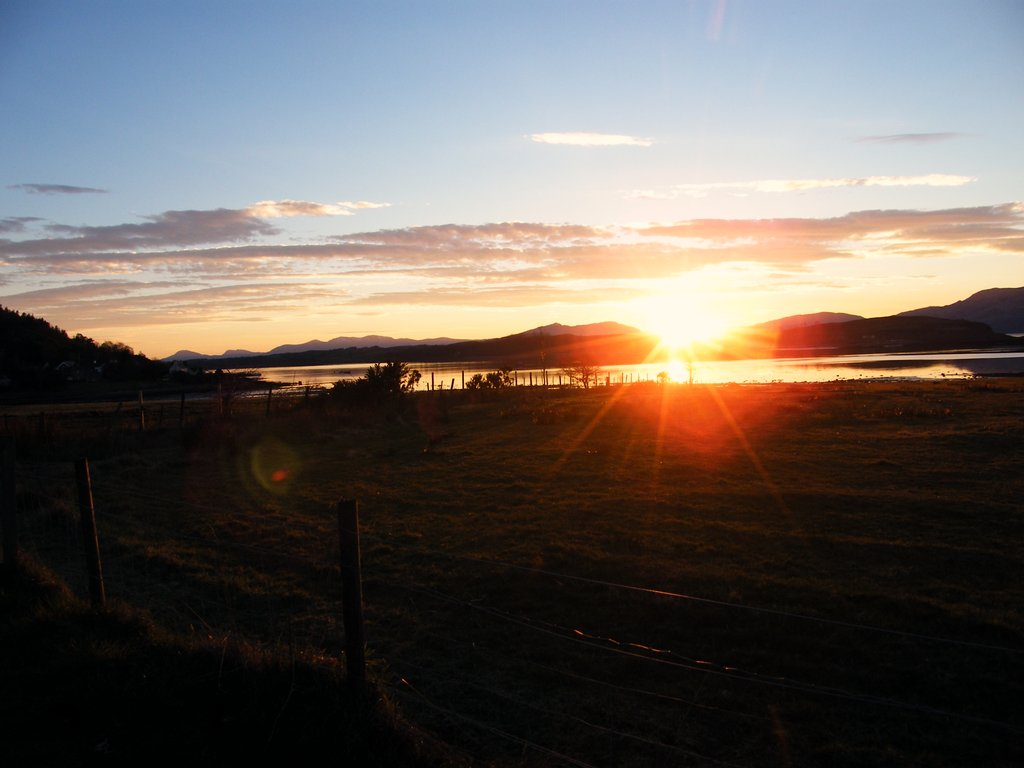 Sun setting over Loch Linnhe_1