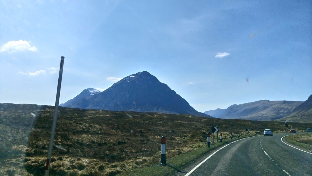 Bauchaille Etive Mor coming into view from A82
