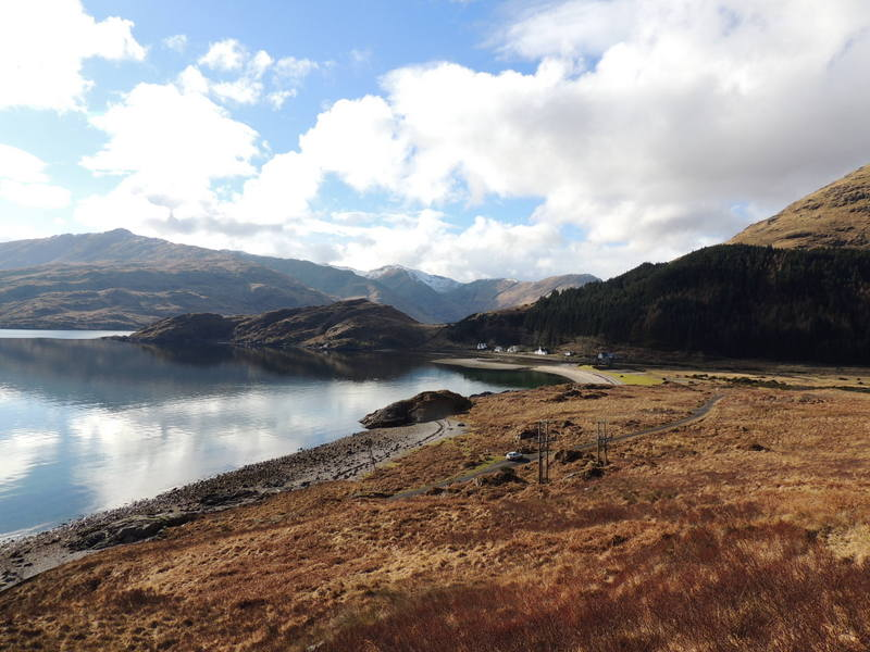 Series of pictures from the other side of the Loch Linnhe, from Linnhe Croft Holiday Cottages