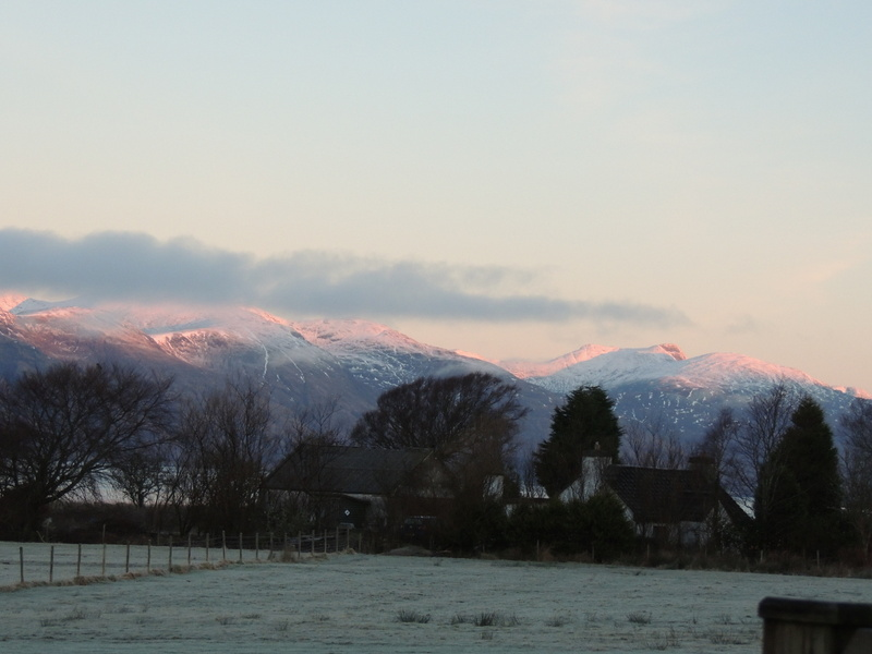 Zoomed view across to Shuna and Morvern Mountains